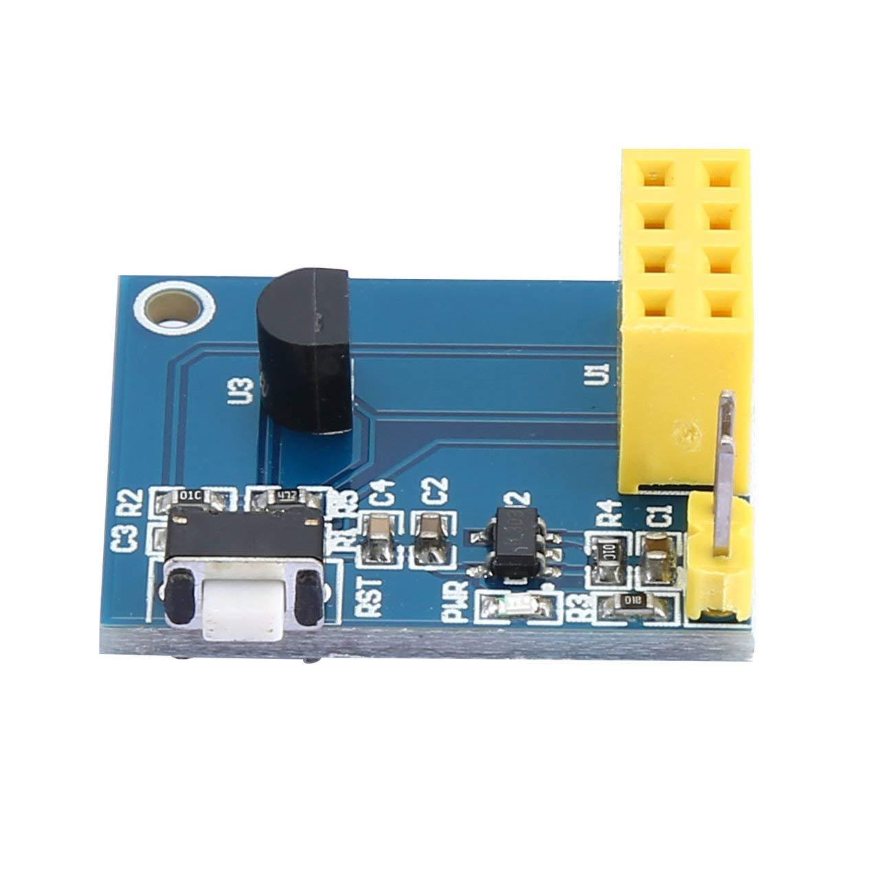 WOSOSYEYO ESP8266 ESP-01 ESP-01S DS18B20 Temperatura Sensor de Humedad M/ódulo WiFi NodeMCU Smart Home IOT DIY Kit sin m/ódulo ESP