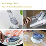 Apusale-Soap Dispenser Brush Heavy Duty Dish Wand