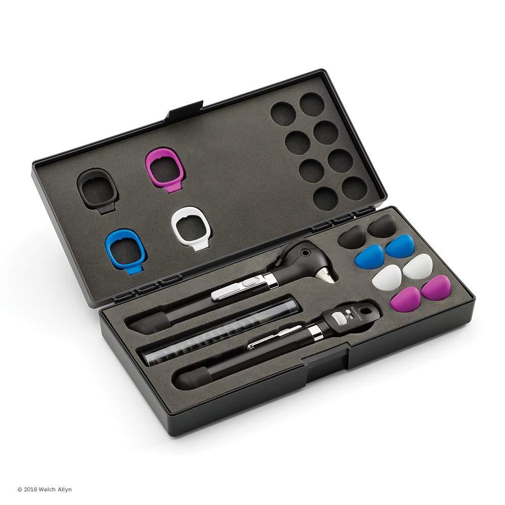 Welch Allyn 5079 - 135 profesional estetoscopio con acero inoxidable Double-Head pecho), único lúmenes sin látex tubos, color negro: Amazon.es: Industria, ...