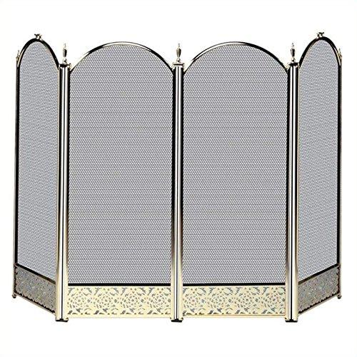 - Pemberly Row 4 Fold Polished Brass Screen
