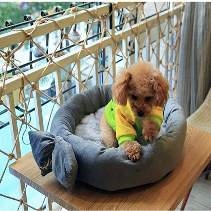 Amazon.com : Vivian Inc Beds & Furniture - Design Round Dog Bed Mats Cat Puppy Warm Winter Pet Nest Sofa Kennel Cute Accessories for Dog Cat Pet (Grey, ...