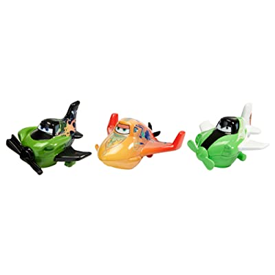 Disney Planes Micro Drifters Ripslinger, Zed and Ishani Vehicle 3-Pack: Toys & Games