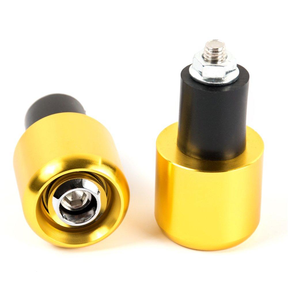 Black 7//8 22 mm CNC Motorcycle Handlebar Grip Ends Motocross Anti Vibration Slider Plug For 22mm handlebar with 18mm inner hole