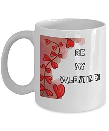 Amazon Com Beautiful Be My Valentine Coffee Mug Special I Love