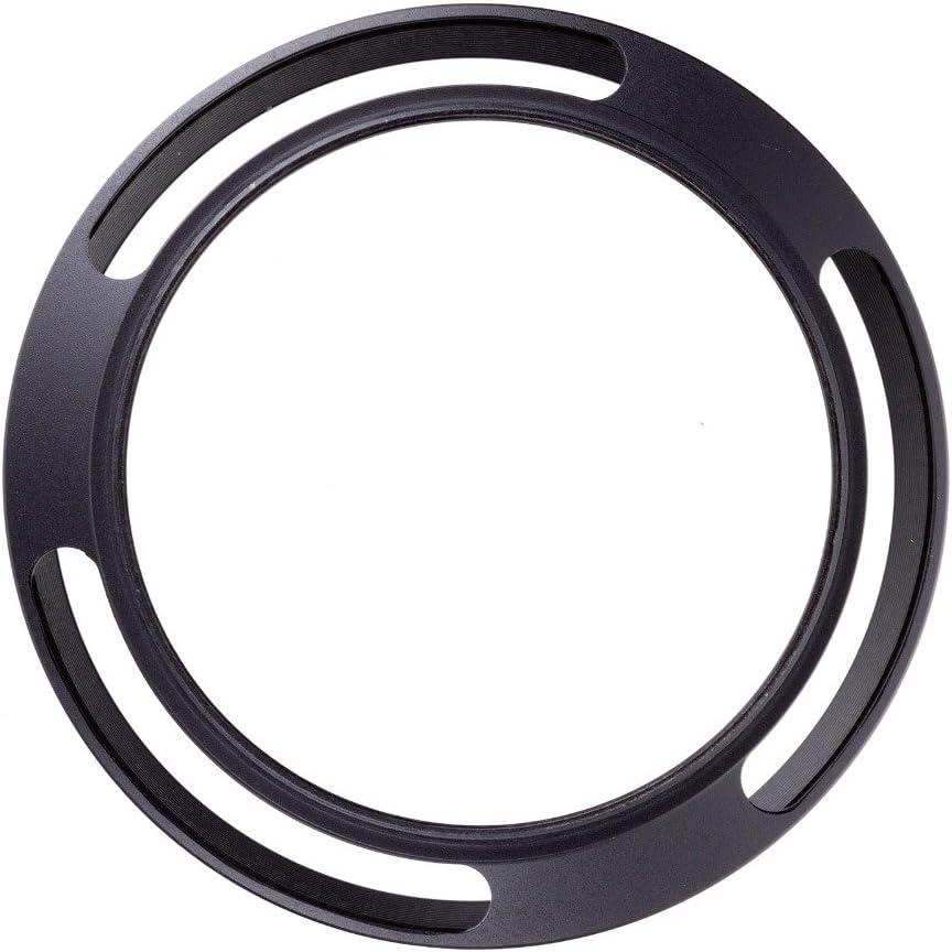 1x 52mm schwarz Metallgef/ächerte Gegenlichtblende f/ür 52mm bel/üftete Gegenlichtblende