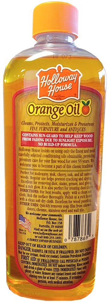 Holloway House House Pure Orange Oil for Fine Wood 6 Bottles 6 Bottles by Holloway