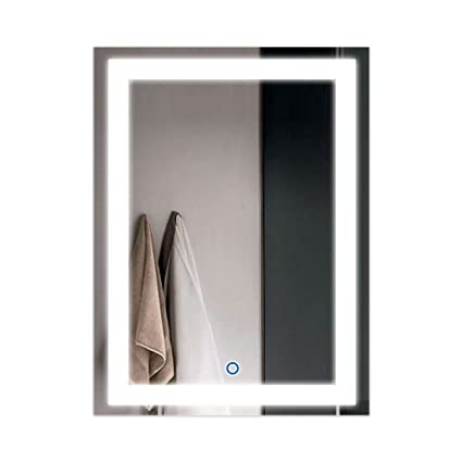 Genial DP Home 24u0026quot; LED Lighted Illuminated Bathroom Vanity Wall Mirror With  Touch Sensor, Vertical