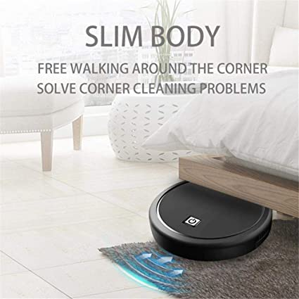 funciona desde el piso duro hasta la alfombra Aspirador de robot inteligente recargable M/áquina de limpieza autom/ática de barrido Barredora autom/ática Hogar inteligente