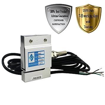 lotoclub transductor de presión de fijación célula de carga de aluminio sensores 2 kg 4.4LB para equipo de líneas de producción y automático/electrónico ...