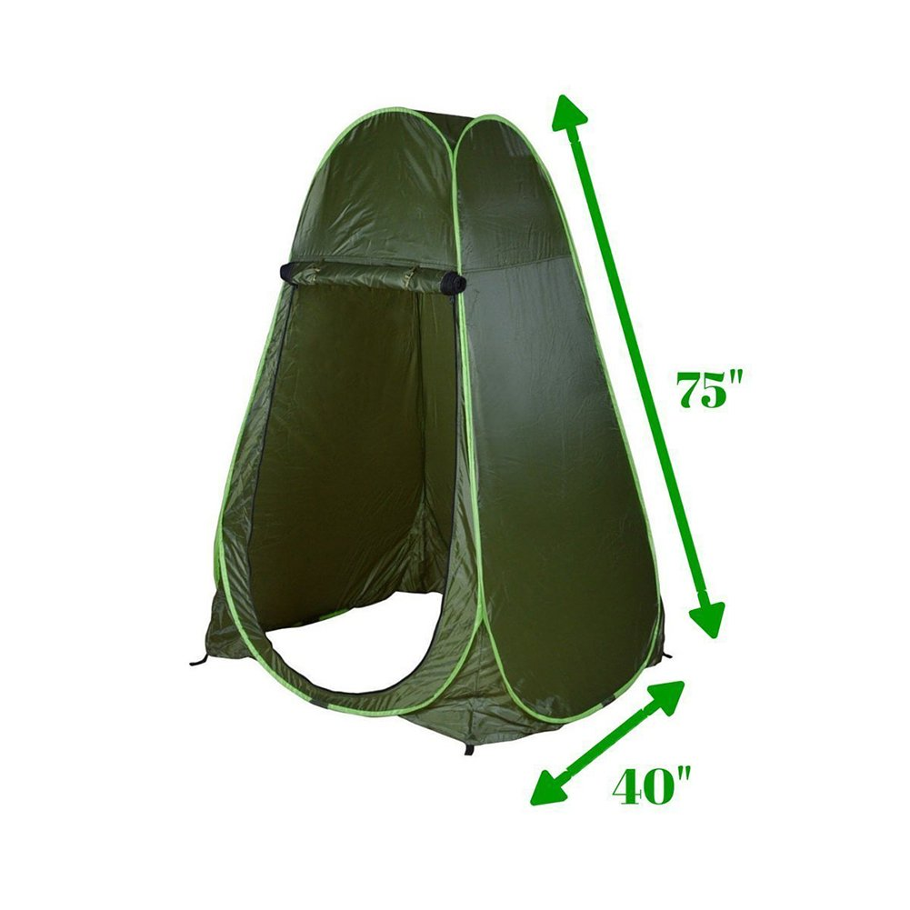 x 40 L x 40 Filfeel Shower Tent Pop Up Outdoor Toilet Tent for Camping Dressing Room Portable Travel Privacy Tent with Carrying Bag 75 W H