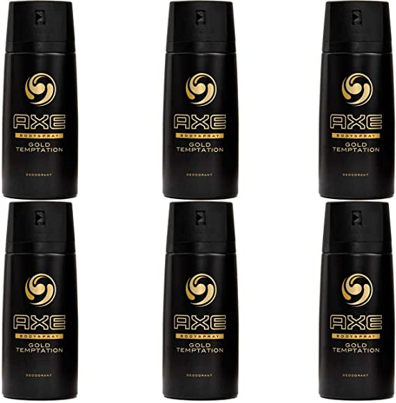 Axe Gold Temptation Desodorante Spray 150Ml (Pack 6): Amazon.es ...