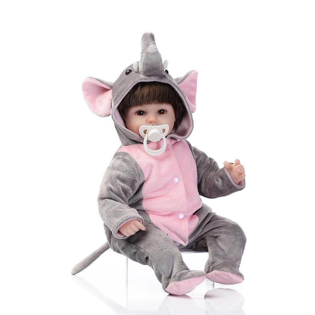 ソフトシリコンRebornベビー人形Lifelike Cute Girls Playmate Toys by NPK   B07BHPQQL7