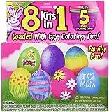 8 Kits in 1 Easy-to-do Egg Decorating Family Friendly Kit