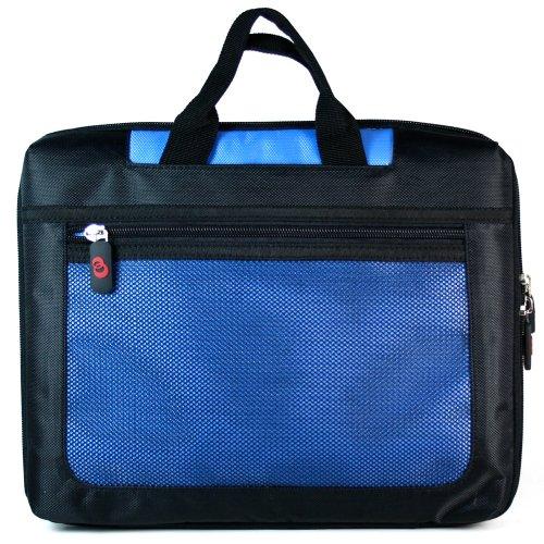Universal Mesh Nylon Slimline Carrying / Messenger bag for Apple iPad Air 2 / Air / 4 With Retina Display / 3 / 2 (Blue)