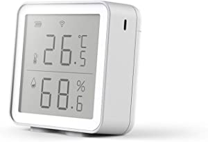 WiFi Temperature Humidity Monitor Wireless smart Indoor Hygrometer Thermometer ,Works with Alexa Google Home, remote monitoring Alerts & Data Export ,suitable for House Greenhouse Wine Cellar Humidor