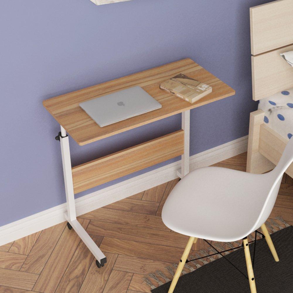 DlandHome 31.4'' Large Size Mobile Side Table, Adjustable Movable w/wheels, Portable Laptop Stand for Bed Sofa, 05#1-80O Oak, 1 Pack by DlandHome (Image #8)