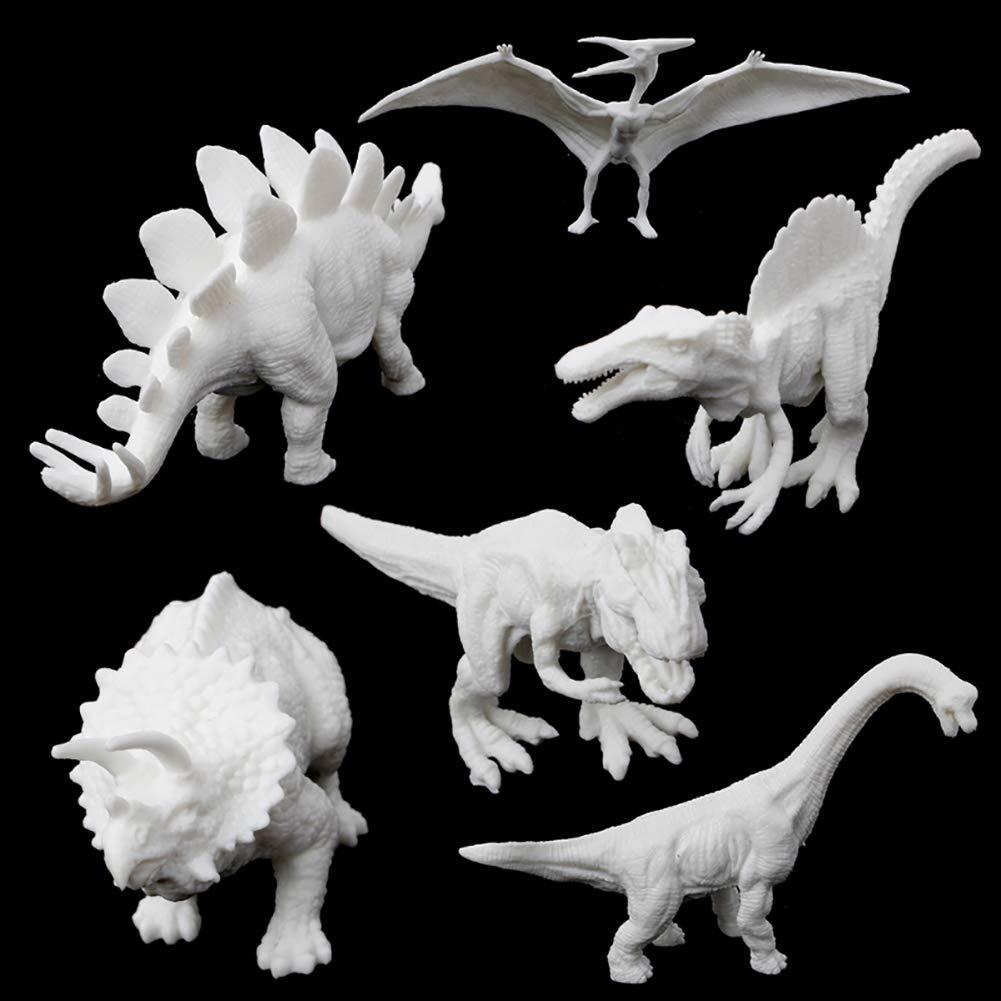 Jungen Dinosaurier-Spielzeug Schm/ücken Sie Ihre eigene Dinosaurier-Figur Kunst-Installationssatz mit Pigment und B/ürste Modell Brachiosaurus malen und spielen Spiel Diy Spielzeug f/ür Jungen M/ädchen