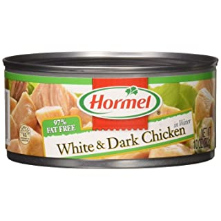 Hormel White & Dark Chicken in Water 95% Fat Free, 10 Ounce, Pack of 12