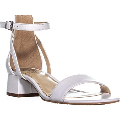 47bfb14986 Vince Camuto Shetana Ankle Strap Sandals, Pure Baby Sheep, 6 US / 36 EU