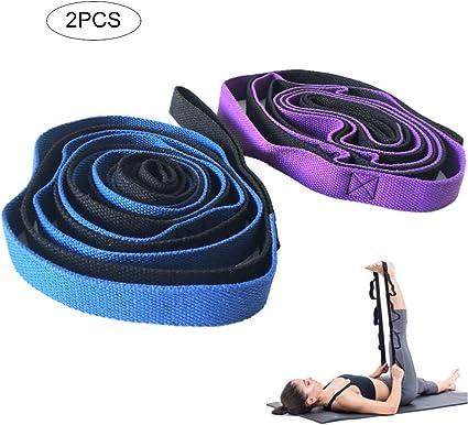WYQWAN Yoga Cinturon - Correa Yoga Algodon para Mejores Estiramientos -,para Mejorar Fuerza Fitness Pilates(2Pcs): Amazon.es: Deportes y aire libre