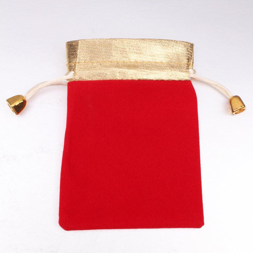 Milopon Sachet en Tissu avec Cordon Multifonction Petit Sac Pochette Rangement pour Bijoux Anniversaire Cadeau 10pcs