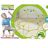 Kids Construction Fort Building Kit, Bygg din egen Den Kit, DIY Building Castles Tunnels Play Tält Leksaker för Pojkar…