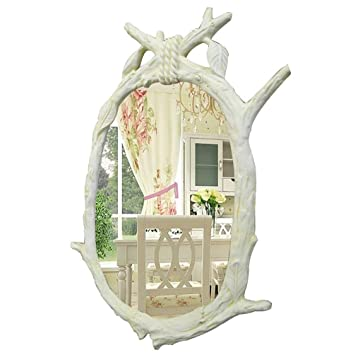 Amazon.com: Jingziw Espejo Retro Nórdico, Resina Ecológica ...