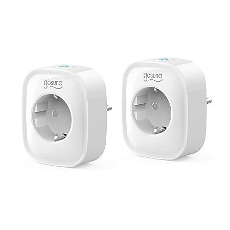 Smarte Steckdose WLAN Steckdose 2er Pack, Stromverbrauch messen Timer Funktion Fernsteurung Schaltbare Steckdose ohne Hub ben