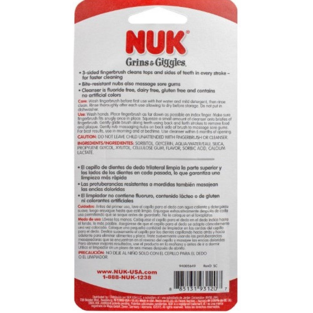 Amazon.com: NUK Fluoride Free Tooth and Gum Cleanser, 1.4 Ounce (Pack of 2): Baby