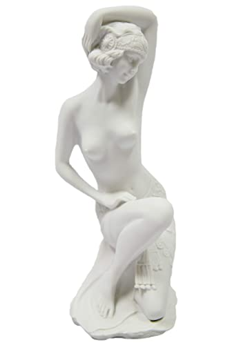 12 Nude Naked Woman Flapper Dancer Art Deco Italian Statue By Vittoria Collection Made in Italy