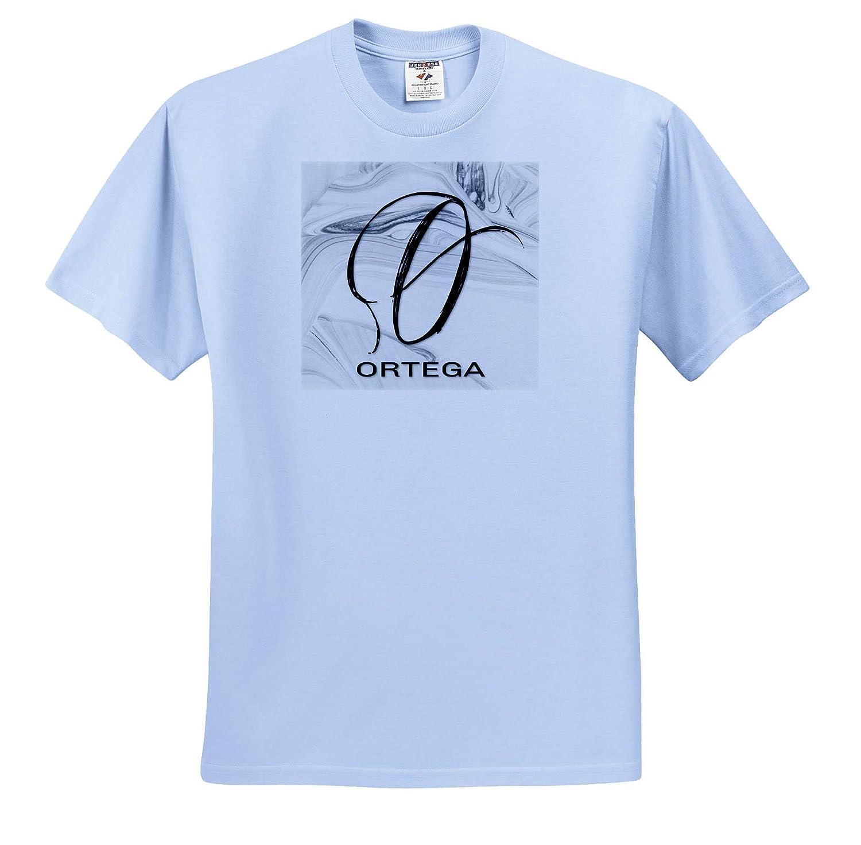 3dRose BrooklynMeme Monograms White Marble Monogram O Ortega T-Shirts