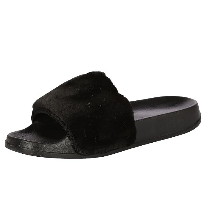 De las mujeres Confortable Llanura Caucho Arco Zapatos Zapatillas tamaño 36 mVDXkAMuDN