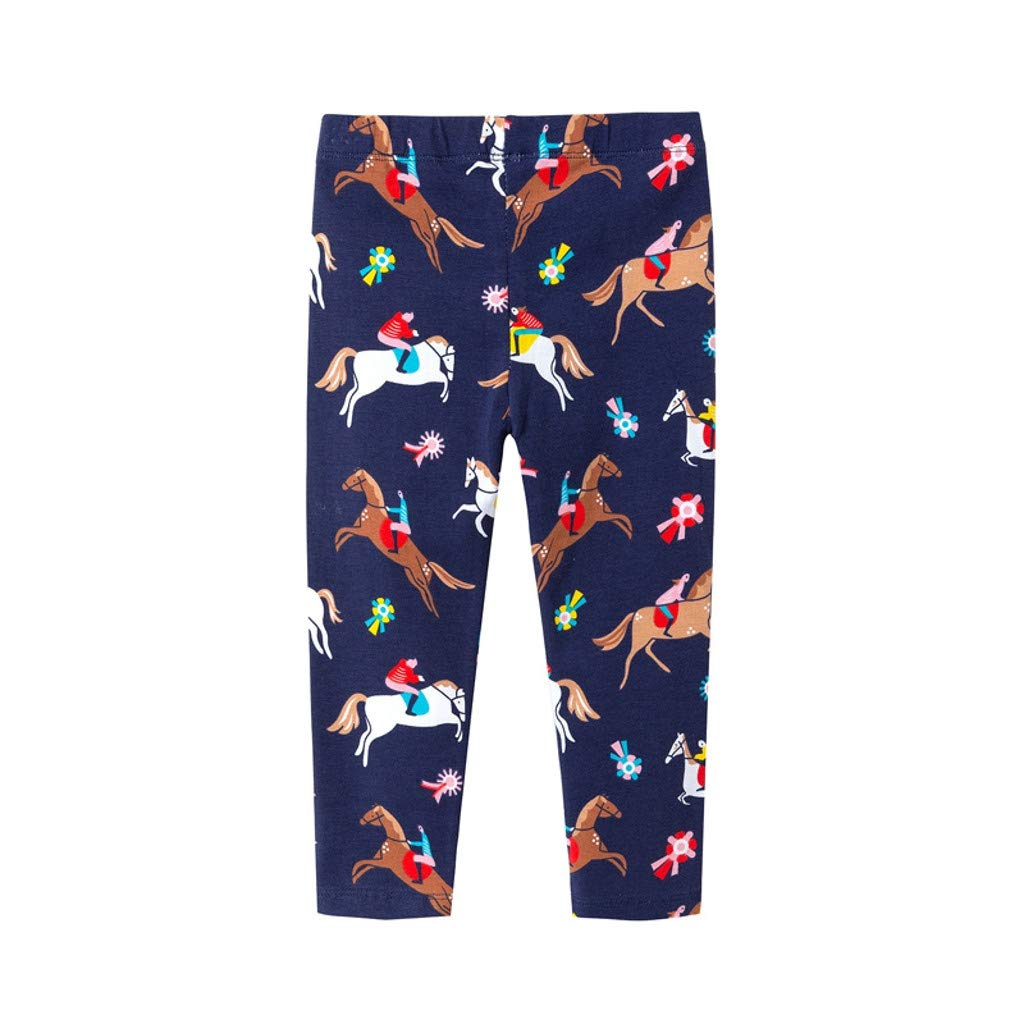 NUWFOR Children Kid Infant Boys Cartoon Print Anti- Casual Long Pants Trousers(Navy,3-4Years