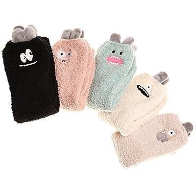 Tengweng Woman Winter Soft Warm Microfiber Fuzzy Plush Socks 5 Pairs Set