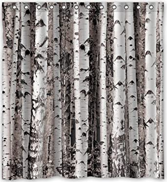 Image Unavailable Not Available For Color Amazing Birch Tree Design Shower Curtain
