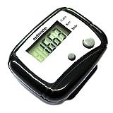 TOOGOO(R) LCD Pedometre numerique Compteur de poche pour marche Noir