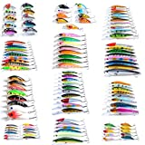 HITSAN ZANLURE 109 pcs/set Lot Wobbler Minnow Bass Fishing Lures Crankbaits Tackle Steel Hooks One Piece