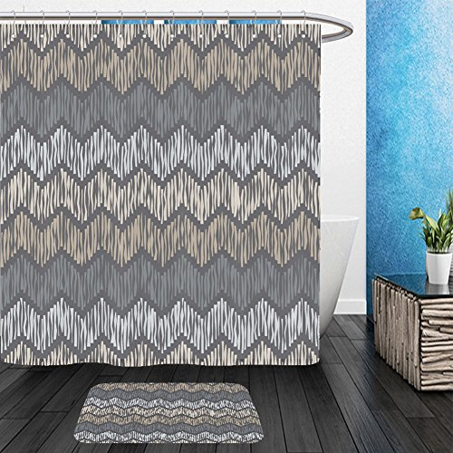 Vanfan Bathroom 2 Suits 1 Shower Curtains & 1 Floor Mats ethnic boho seamless pattern ikat print repeating background cloth design wallpaper 537210742 From Bath - Soho Ny Shops