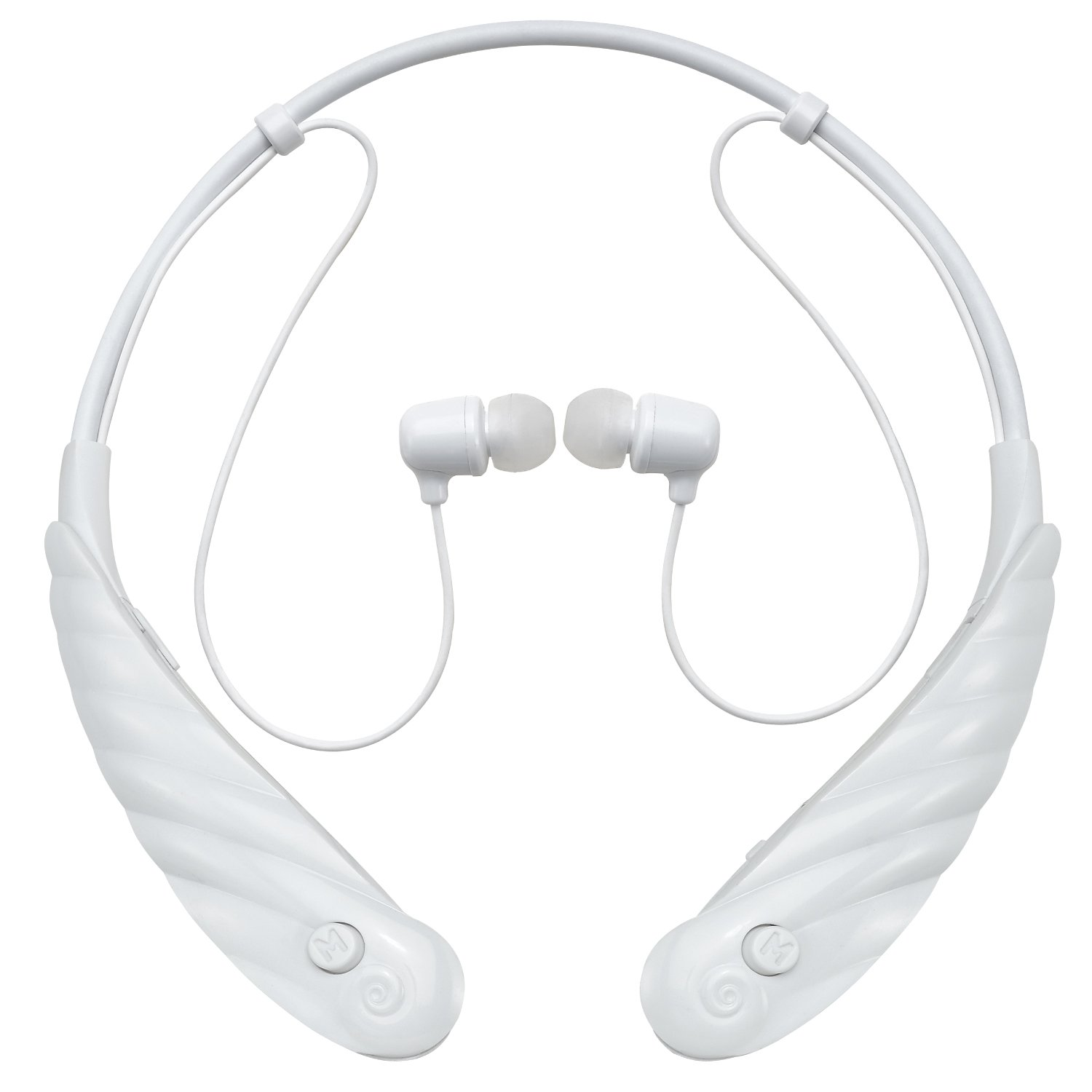 Mimitakara (Active White) FDA Registered Rechargeable Hearing Amplifier, with Bluetooth earphone technology by Mimitakara