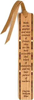 product image for Personalized C.W. Eliot - Books are Friends and Teachers Quote - Engraved Wooden Bookmark with Tassel - Search B079C8BS2K for Non Personalized Version