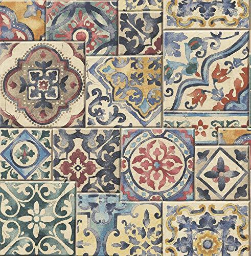 BHF FD22301 Reclaimed Marrakesh Tiles Multi Wallpaper