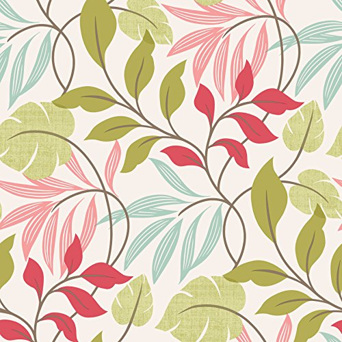 Beacon House 2535-20629 Eden Modern Leaf Trail Wallpaper, (Beacon House Wallpaper)