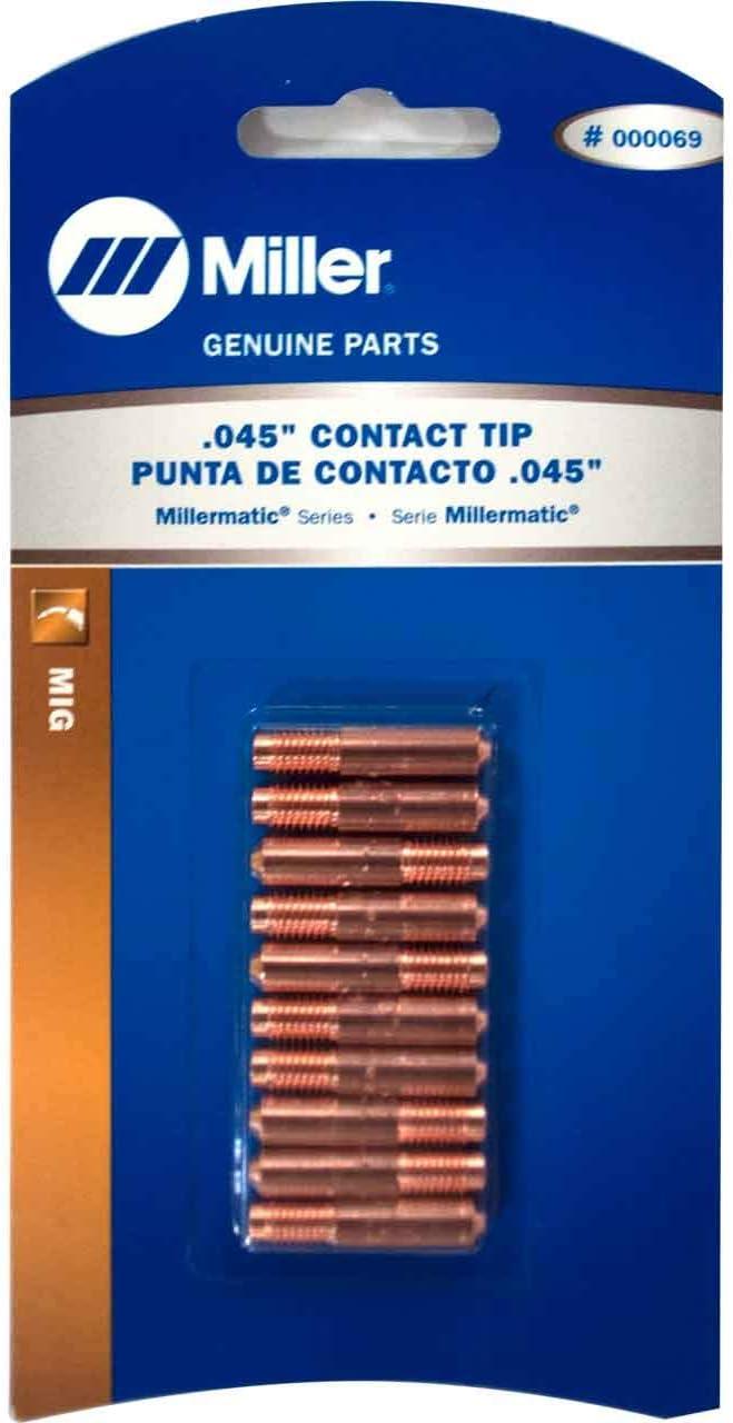 """10-pk 000069 .045/"""" MIG Welding Contact Tips for Miller Hobart"""