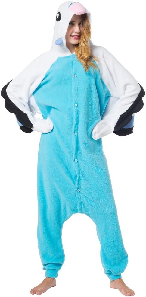 Katara-(10+ Modelos Disfraz Animal Pijama Una Pieza Adultos, Color Loro Azul, Talla 155-165cm(M), (1744)