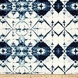 Art Gallery Fabrics Art Gallery Observer Indigo Window Crystal Fabric By The Yard, Crystal
