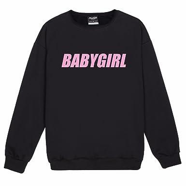 8fd9174f1 Minga London Babygirl Sweater Top Women s Fun Tumblr Cute Pink at ...