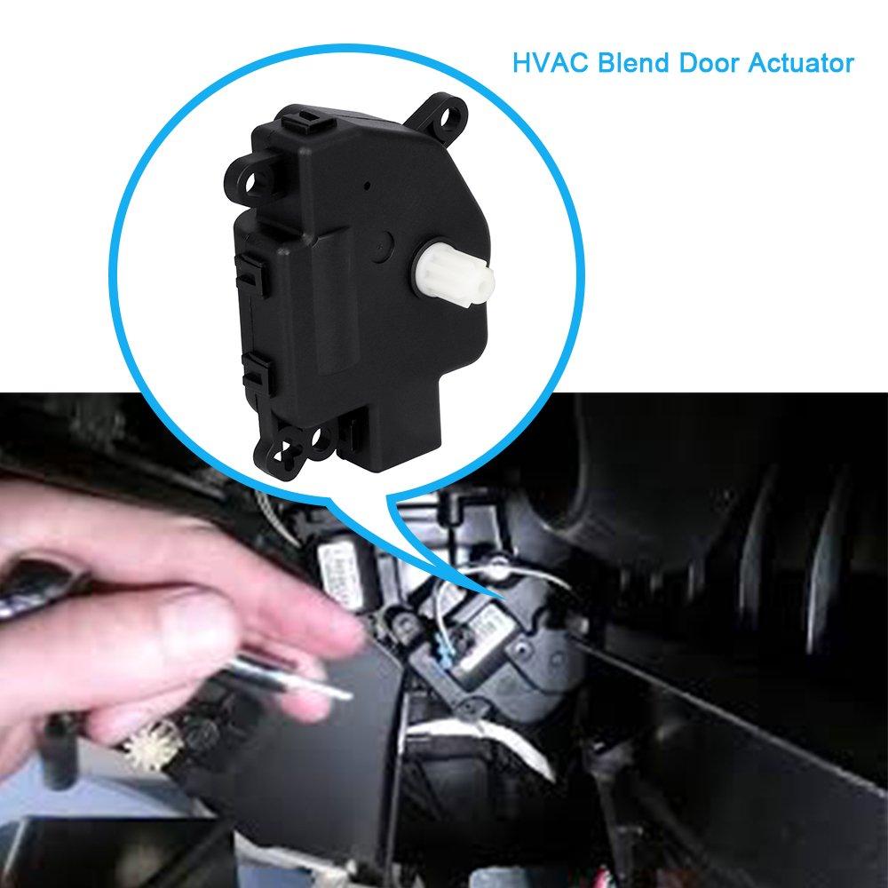 HVAC Blend Door Actuator for 2007-2010 Chrysler Cirrus & Sebring, Dodge  Journey/Avenger/Durango, Jeep Wrangler, Ram ProMaster, Replaces# 604-029,