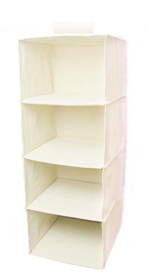 Lino/cotone tessuto Hanging Closet organizer portaoggetti per abiti,  maglioni, scarpe, accessori