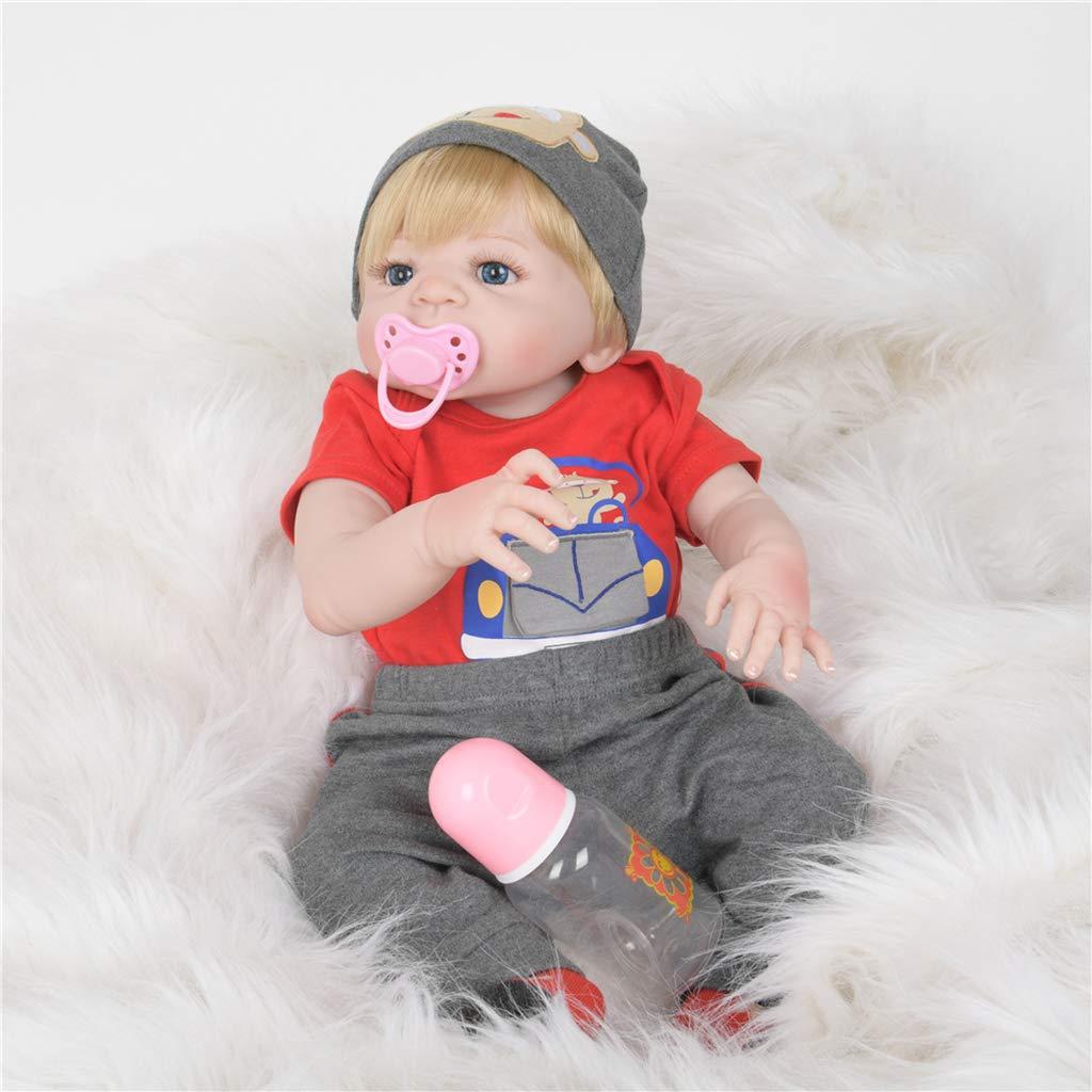 FLAMEER FLAMEER FLAMEER Realistische Silikon Vinyl Babypuppe Funktionspuppe Weichkörperpuppe mit Zubehör, 55cm -   14 01d9eb