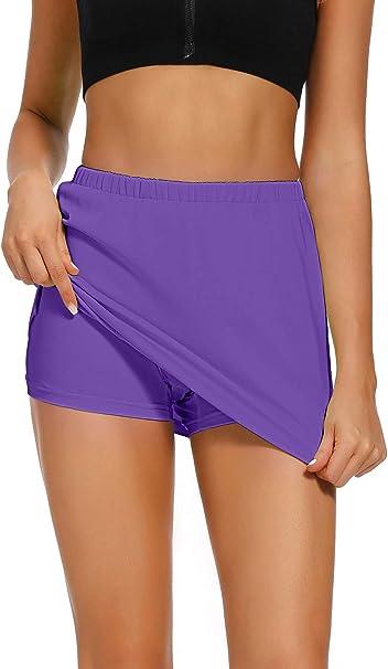 Image of Jessie Kidden - Skorts atléticos para mujer, ligera, con bolsillos cortos, correr, tenis, golf, entrenamiento, deportes